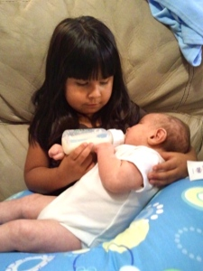 Aileen Feeding Braxton for the first time