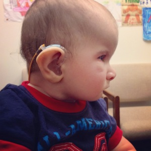 Braxton Wearing his Hearing Aids
