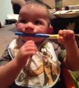Braxton likes the vibration on his teeth