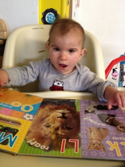 Brax trying to Roar like a lion