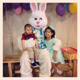 Braxton and Aileen with the Easter Bunny