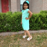 Aileen showing off her Easter outfit.