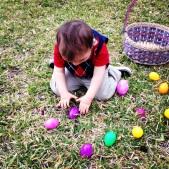 Reaching for an egg :)