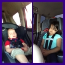 You know your kids had fun when they crash on the ride home ;)