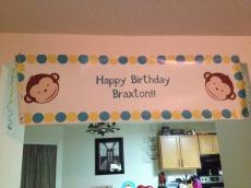 Braxton's Birthday Banner