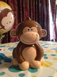 Monkey piggy bank!