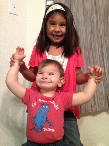Braxton and sister ready for their first day!