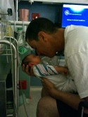 Dad and Brax in NICU