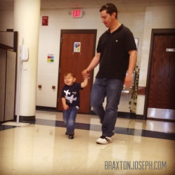 Braxton and Dad at our Transition Meeting