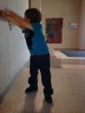 Walking around school