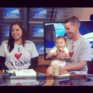 Our first visit to KXAN for Feeding Tube Awareness Week.